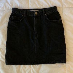 ASOS Black Denim Skirt Size 6